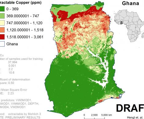 Ghana - extractable Copper