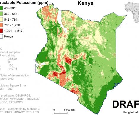 Kenya - extractable Potassium
