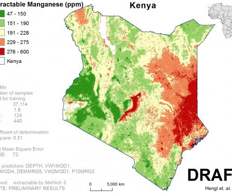Kenya - extractable Manganese